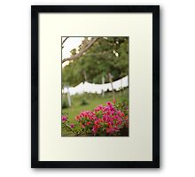 the hotel towels Framed Print