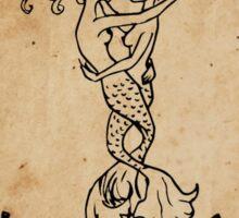 Mermaid Tarot: The Lovers Sticker