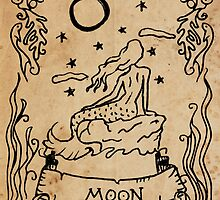 Mermaid Tarot: The Moon by SophieJewel