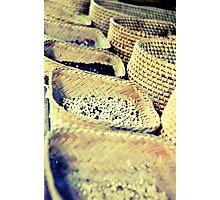 Basket of Beans Photographic Print