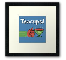 Teacups! a charming cartoon drawing honoring the humble mystical teacup Framed Print