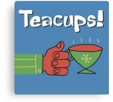 Teacups! a charming cartoon drawing honoring the humble mystical teacup Canvas Print