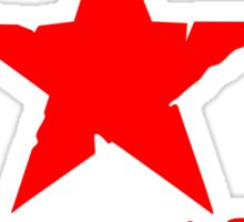 No Pasaran Red Star Slogan Sticker