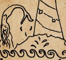 Mermaid Tarot Sticker: The Tower Sticker