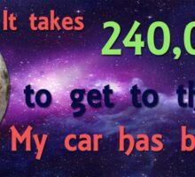 My Moon Car Sticker