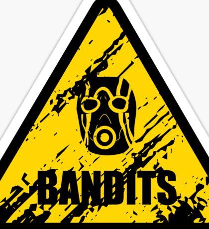 Bandit Warning Sign Sticker