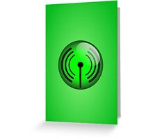 Wi-Fi Icon by Chillee Wilson Greeting Card
