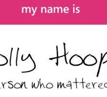 Molly Hooper Name Tag Sticker