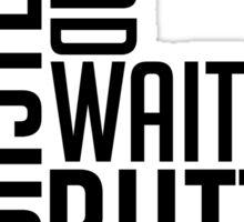 Toast Typography Sticker