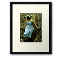 The bird skull mask Framed Print