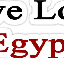 Live Love Egypt  Sticker
