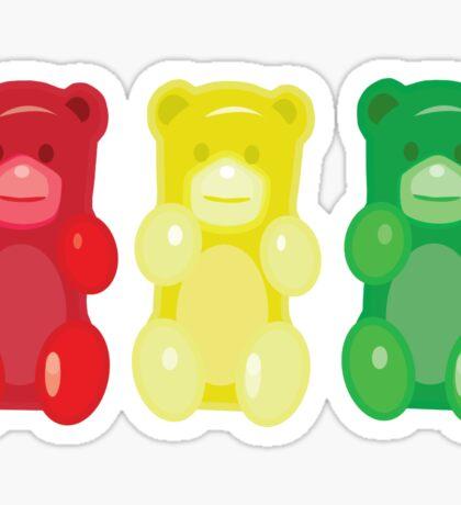 Gummy Bears, stop, set, go! Sticker