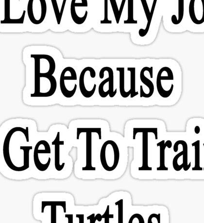 I Love My Job Because I Get To Train Turtles  Sticker