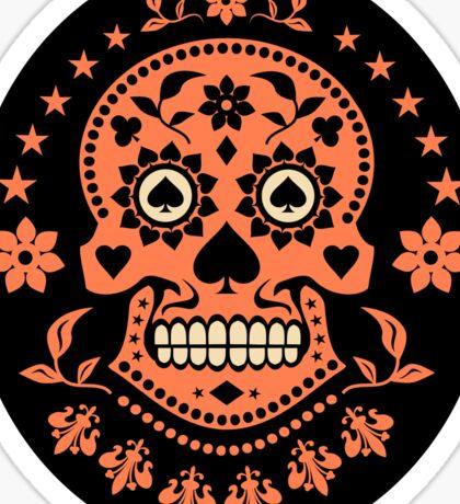 Mexican Day of the Dead Sugar Skull Stickers Sticker