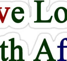 Live Love South Africa  Sticker