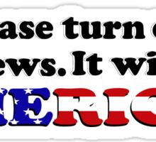 Please Turn Off Fox News (Bumper Sticker) Sticker