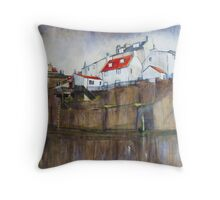 Across The Beck, Staithes Throw Pillow