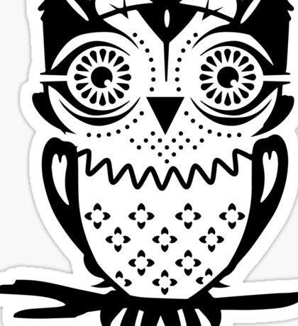 An owl sitting on a branch  Sticker