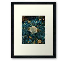 ASTEROID LANDING ON TITAN Framed Print