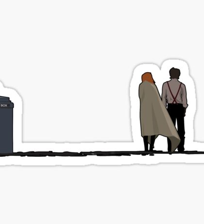 The Doctor, The Companion, and the TARDIS Sticker