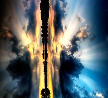 Mirrored Sky iPhone 4/4s Cover by jesse421