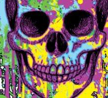 Graphic Splatter Skull Sticker