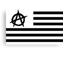 EyE AM Anarchy black for black Canvas Print