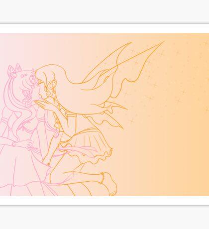 Orange Lady's Scorching Kiss Sticker