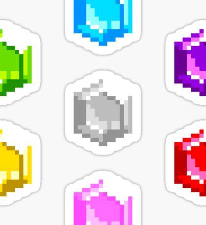 Sonic 2 Emeralds Sticker