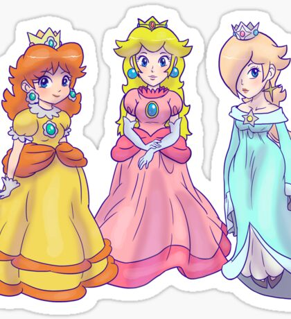 Princess Peach, Rosalina and Princess Daisy Sticker