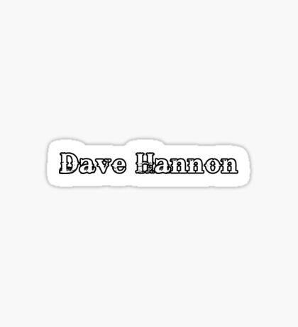 Dave Hannon - 2014 Logo Sticker
