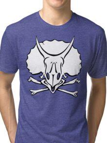 Dino Crossbones Tri-blend T-Shirt