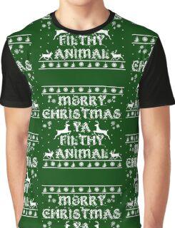 Merry Christmas Ya Filthy Animal Graphic T-Shirt