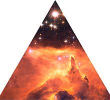 Emission Nebula Triangle   Fresh Universe by SirDouglasFresh