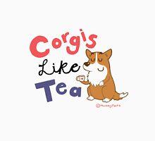 Corgis like tea Womens Fitted T-Shirt