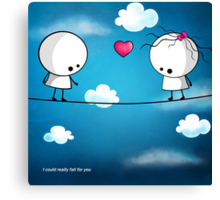 I could really fall for you Canvas Print