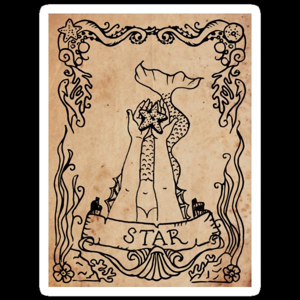 Mermaid Tarot: The Star by SophieJewel