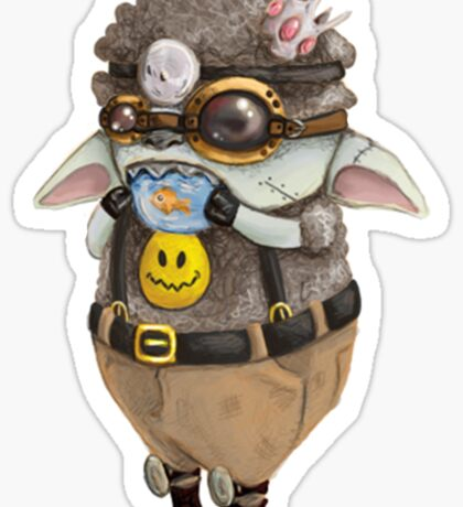 GoggleSheep - Gummi  Sticker