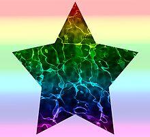 Rippling Rainbow Star (Rainbow Extended) by Isla Marie Drummond