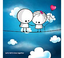 Let`s fall in love together Photographic Print