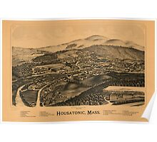 Panoramic Maps Housatonic Mass Poster