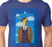 TARDIS and Ten in Magritte style Unisex T-Shirt