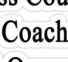 This Cross Country Coach Will Overcome Cancer Sticker
