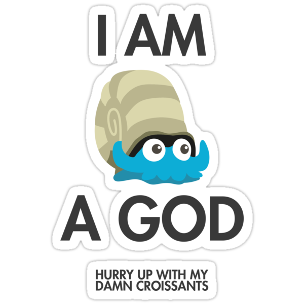 Twitch Plays Pokemon: I Am A God (Featuring Croissants) - Sticker by Twitch Plays Pokemon