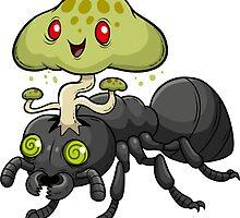 Cordyceps Ant by bogleech