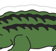 cute cartoon alligator or crocodile Sticker