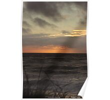 Whitesand Bay sunset over sand dune  Poster