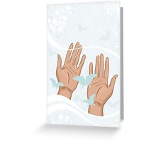beautiful female hands Greeting Card