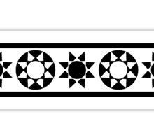 Aztec Sun Strip Sticker