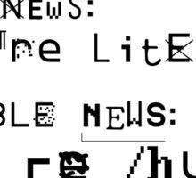 good news & bad news Sticker